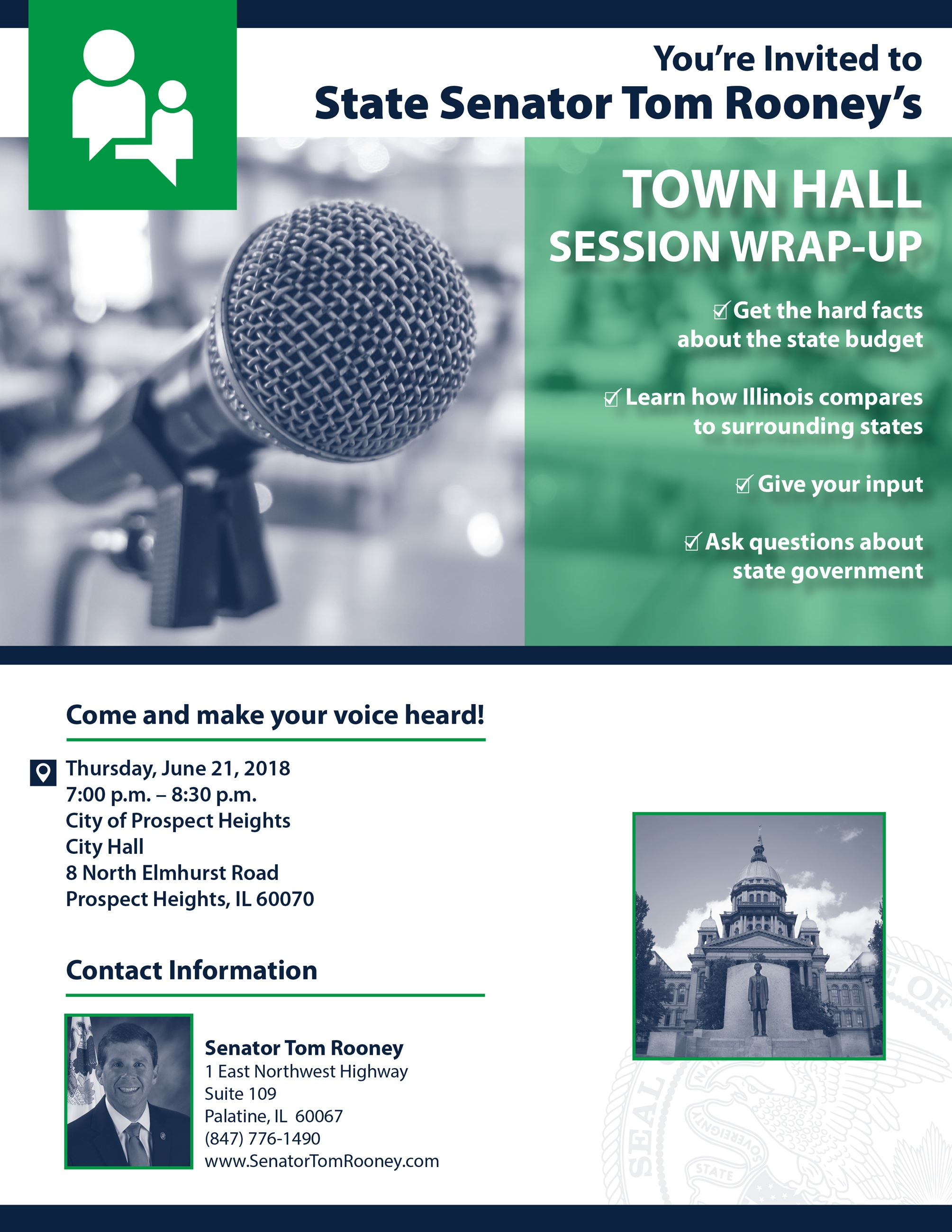 Rooney Town Hall June 21 2018 Flyer