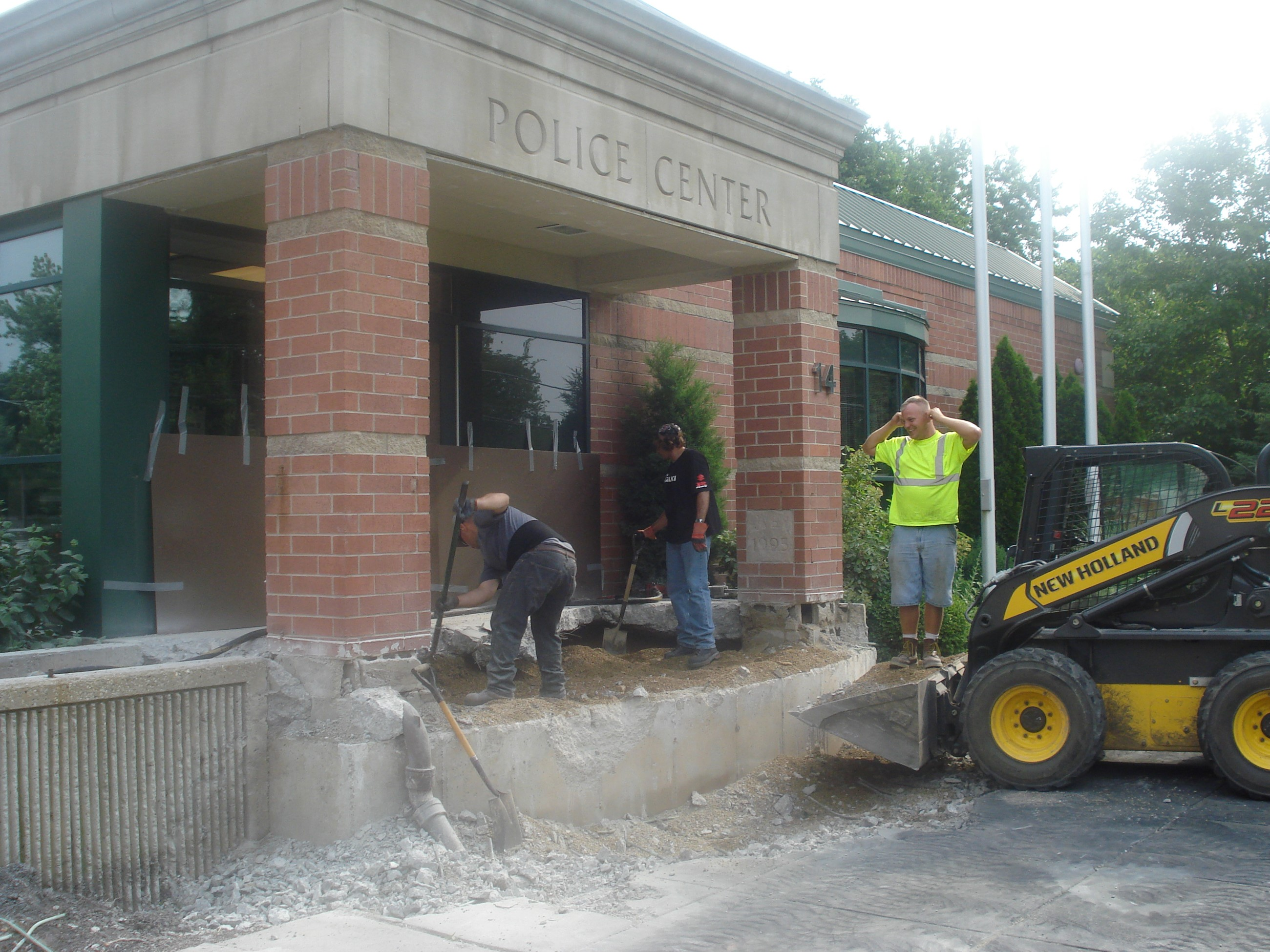 Police Center Work Begins
